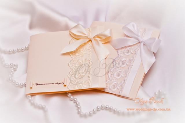 Пригласительные на свадьбу своими руками с ленточками