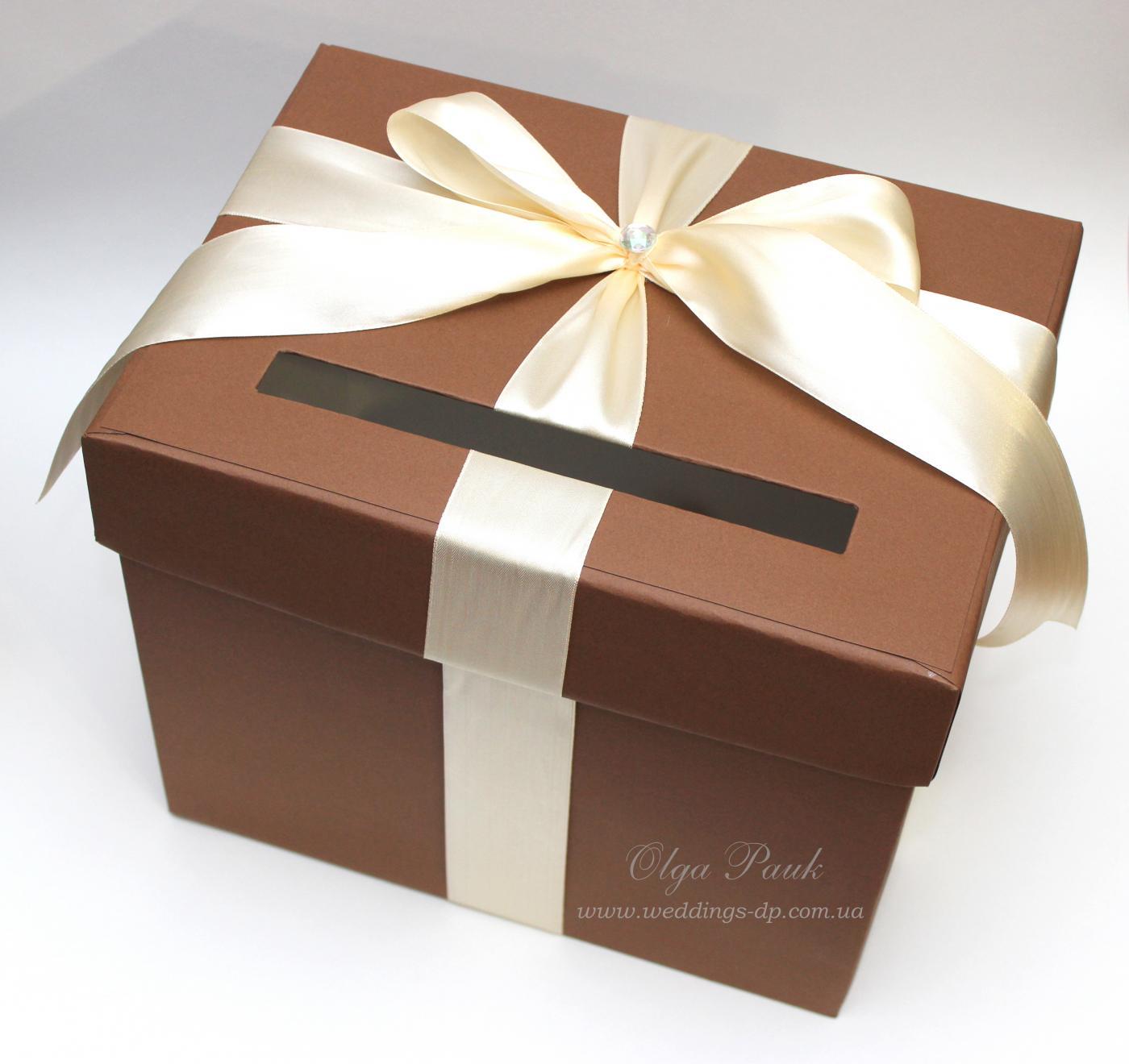 Как украсить коробку на свадьбу своими руками 795